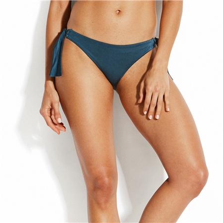 Seafolly Shine On Tie Hipster Bikini Bottoms - Blue  - Click to view a larger image