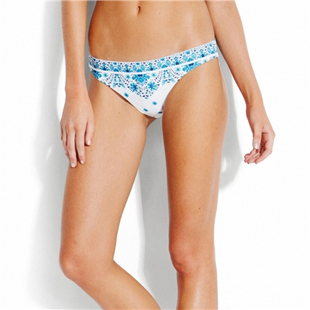 Seafolly Sunflower Hipster Bikini Bottoms- Blue  - Click to view a larger image
