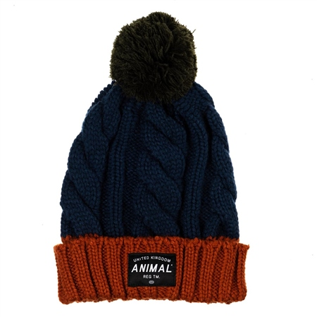 Animal Canye Beanie - Navy  - Click to view a larger image