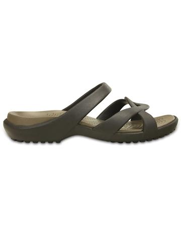 Crocs Meleen Twist Sandals - Espresso & Walnut  - Click to view a larger image