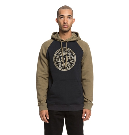 DC Shoes Circle Star Hoody - Burnt Olive & Black  - Click to view a larger image