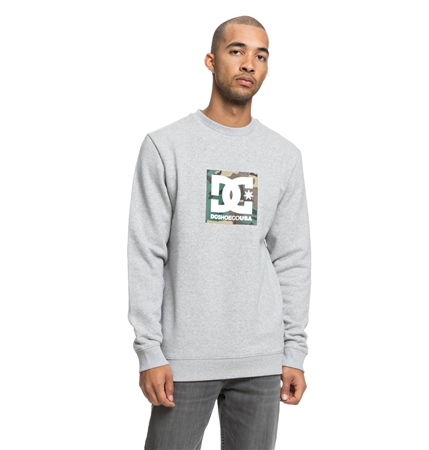 DC Shoes Camo Boxing Sweatshirt - Grey Heather  - Click to view a larger image