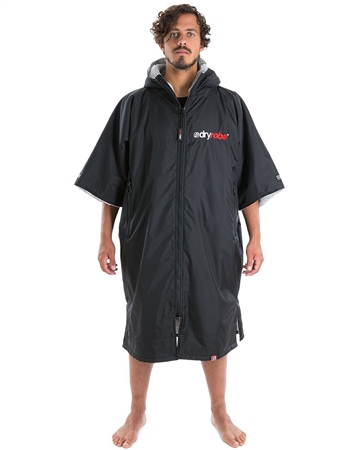 Dryrobe Short Sleeved DryRobe Extra Large  - Black & Grey  - Click to view a larger image