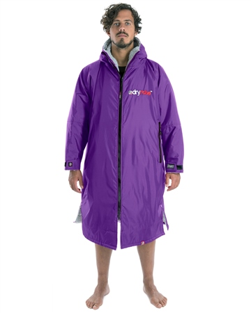Dryrobe Small Long Sleeved  - Purple & Grey  - Click to view a larger image