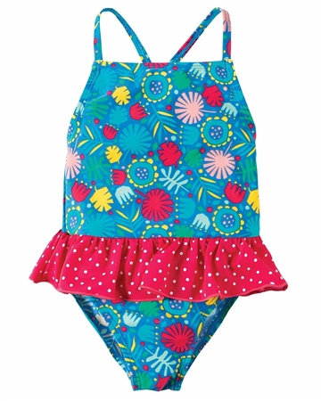 Frugi Little Coral Swimsuit - Multi  - Click to view a larger image