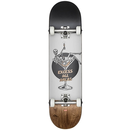 Globe Excess Skateboard - White Brown  - Click to view a larger image