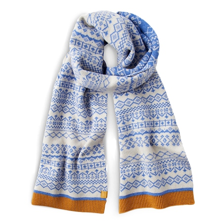 Joules Elsa Scarf - Blue  - Click to view a larger image