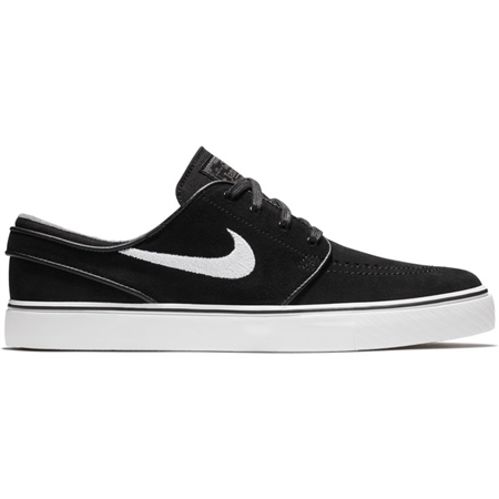 Nike SB Stefan Janoski Suede Shoes - Black & White  - Click to view a larger image