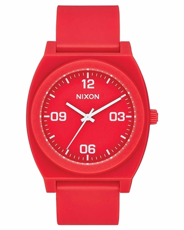 Nixon Time Teller P Corp 2 Watch - Red & White  - Click to view a larger image