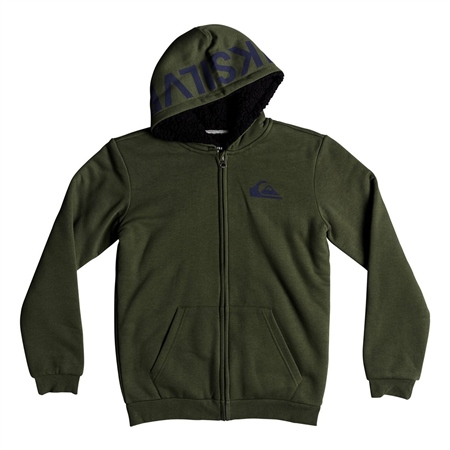 Quiksilver Best Wave Fur Hoody - Leaf  - Click to view a larger image