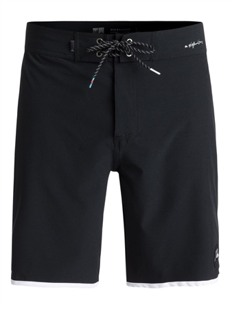 """Quiksilver Scallop 19"""" Boardshorts - Black  - Click to view a larger image"""
