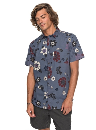 Quiksilver Sunset Floral Shirt - Vintage Indigo  - Click to view a larger image