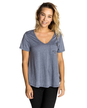 Rip Curl 1st Light Pocket T-Shirt - Indigo  - Click to view a larger image