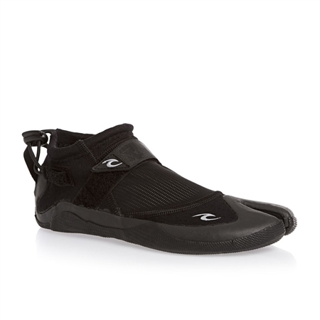Rip Curl Reefer 1.5mm Wetsuit Boots - Black & Charcoal  - Click to view a larger image
