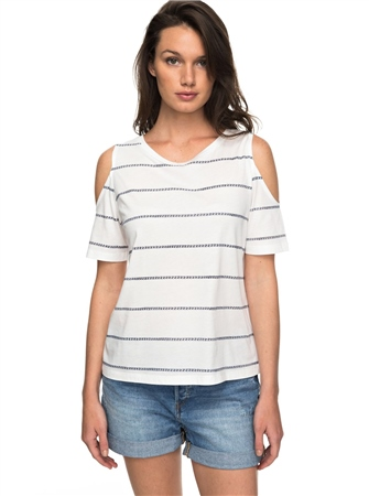 Roxy Uptown Sun Top - Marshmallow  - Click to view a larger image