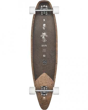 """Globe Pinner Evo 40"""" Skateboard - Cocoa & Black  - Click to view a larger image"""