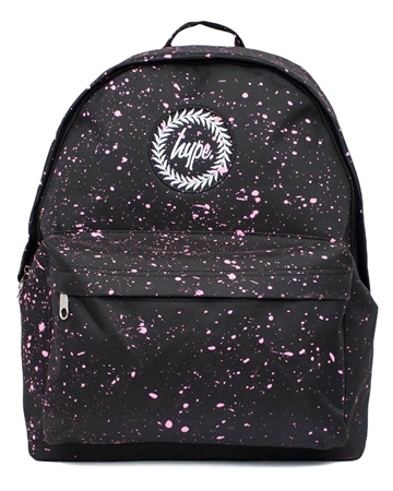 Hype Speckle Backpack - Black & Pink  - Click to view a larger image