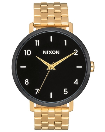 Nixon Arrow 2 Watch - Gold & Black  - Click to view a larger image