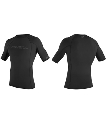 O'Neill Thermo X Short Sleeved Rash Vest - Black  - Click to view a larger image