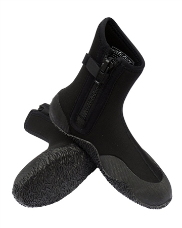 Alder 5mm Zipped Wetsuit Boots in Black  - Click to view a larger image