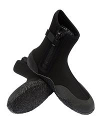 Alder Junior Zip Wetsuit Boots in Black