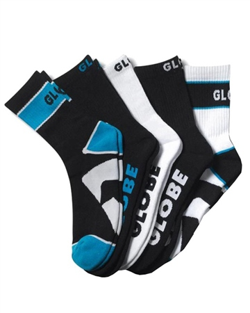 Globe Destroyer Socks 5Pk in Black  - Click to view a larger image
