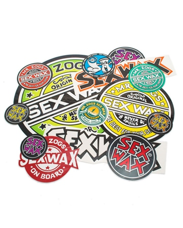 """Sex Wax 3"""" Circle Logo Sticker - Multi  - Click to view a larger image"""