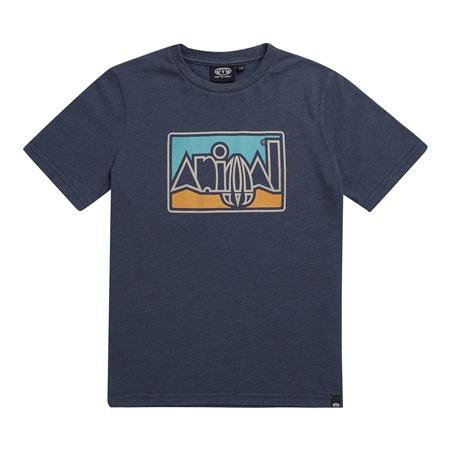 Animal Retro T-Shirt - Indigo Blue Marl  - Click to view a larger image