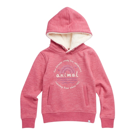 Animal Running Free Hoody - Slate Rose Pink Marl  - Click to view a larger image