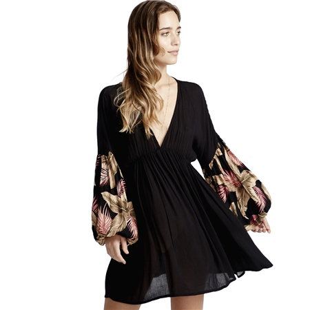 Billabong Wind Whispers Dress - Black  - Click to view a larger image