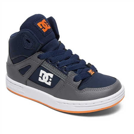 DC Shoes Pure High Top Shoes - Grey & Dark Navy  - Click to view a larger image