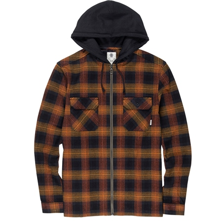 Element Wentworth Shadow Hooded Shirt - Gold  - Click to view a larger image