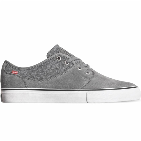 Globe Mahalo Shoes - Grey & Chambray Shaved Suede  - Click to view a larger image