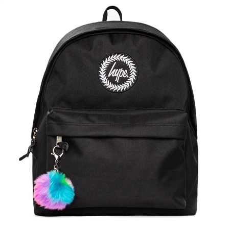 Hype R/Bow Pom Backpack - Black  - Click to view a larger image