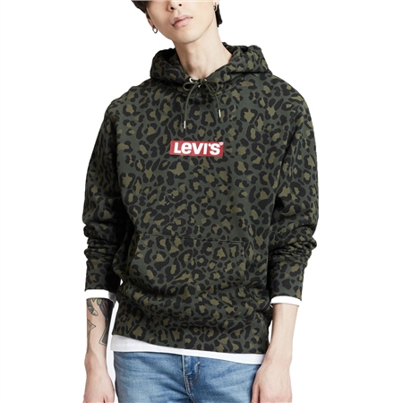 Levi's Graphic Po Pullover Hoody - Olive Woods  - Click to view a larger image