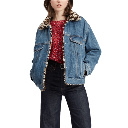 Levi's Dad Revr Fur Trucker Jacket - Cat Eye  - Click to view a larger image