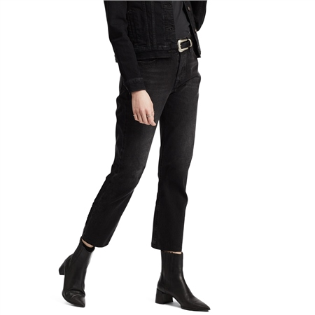 Levi's 501 Crop Jeans - Black Heart  - Click to view a larger image