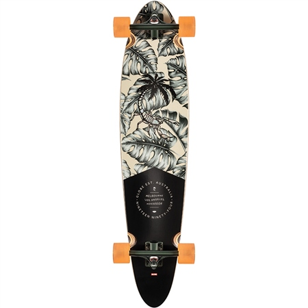 "Globe Pinner Class 40"" Skateboard - Hurricane Leaves  - Click to view a larger image"