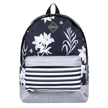 Roxy Sugar Baby Print 2 16L Backpack - Black  - Click to view a larger image
