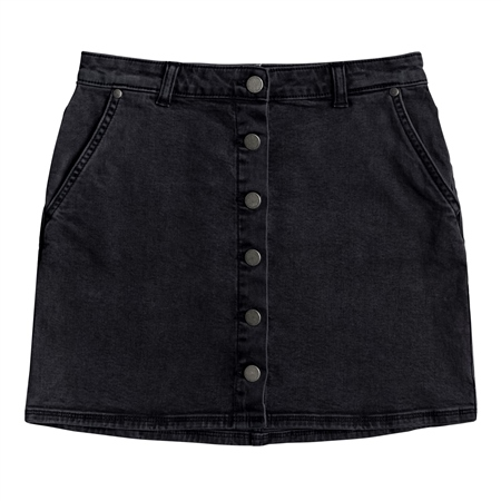 Roxy Wild Young Denim Skirt - Anthracite  - Click to view a larger image