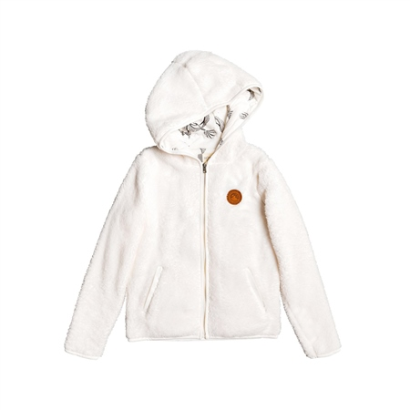 Roxy Silver Water Zipped Hoody - White  - Click to view a larger image