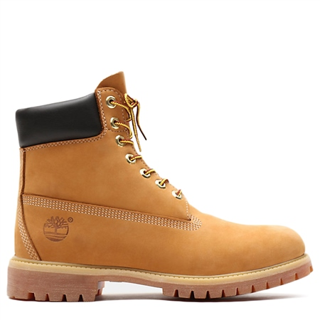 """Timberland 6"""" Premium Waterproof Boots - Wheat Nubuck  - Click to view a larger image"""