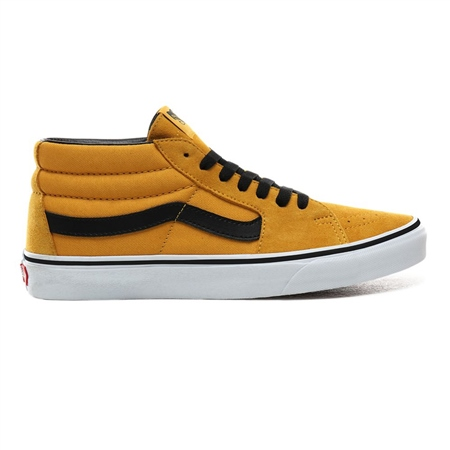Vans UA SK8 Mid Shoes - Mango & White  - Click to view a larger image