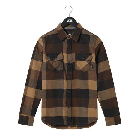Vans Boys Box Flannel Shirt - Black & Dirt  - Click to view a larger image