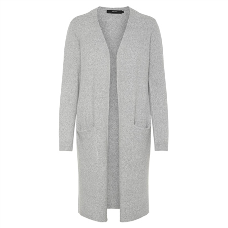 Vero Moda Doffy Cardigan - Light Grey  - Click to view a larger image