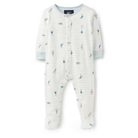 Joules Ziggy Babygrow - Cream Rabbit  - Click to view a larger image