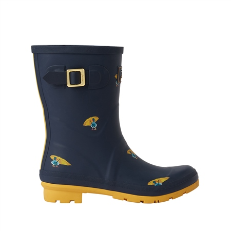 Joules Molly Wellington Boots - Navy Ducks  - Click to view a larger image