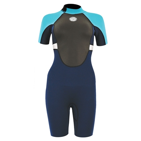 Alder Girls Impact 3/2mm Shorty Wetsuit - Blue  - Click to view a larger image