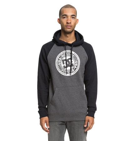 DC Shoes Circle Star Mens Hoody - Black & Charcoal  - Click to view a larger image