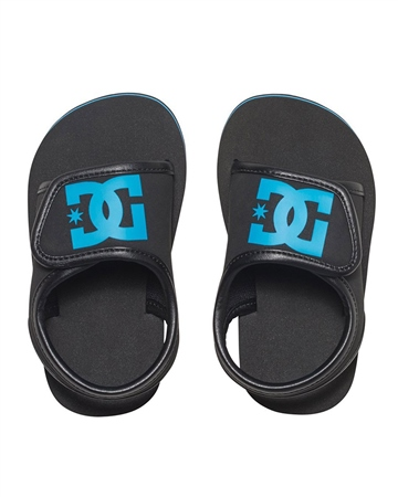 DC Shoes Bolsa Boys Flip Flops - Black  - Click to view a larger image